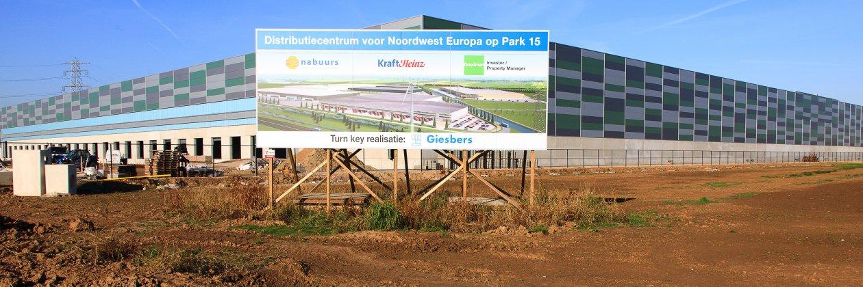 Het eerste bouwkavel op Park15 van 62.000m²