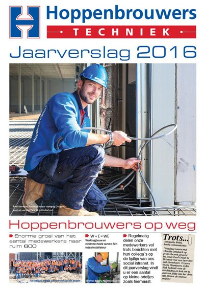 Jaarverslag 2016 van Hoppenbrouwers Techniek