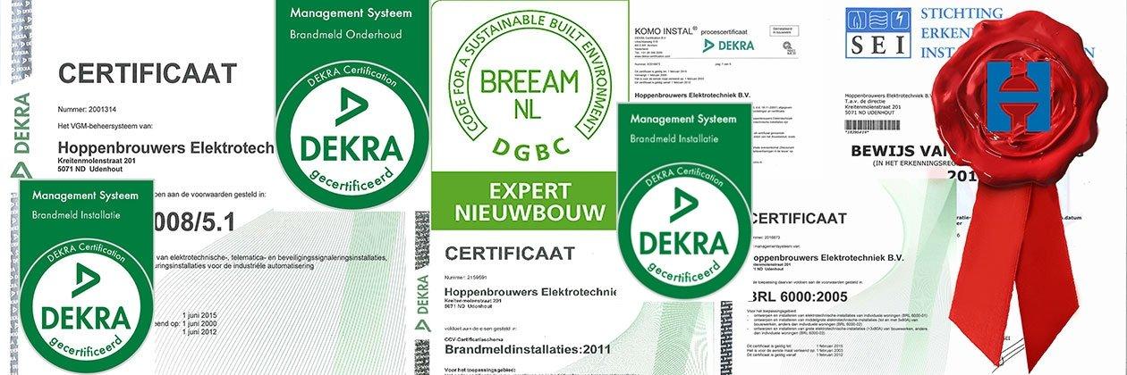 Certificeringen