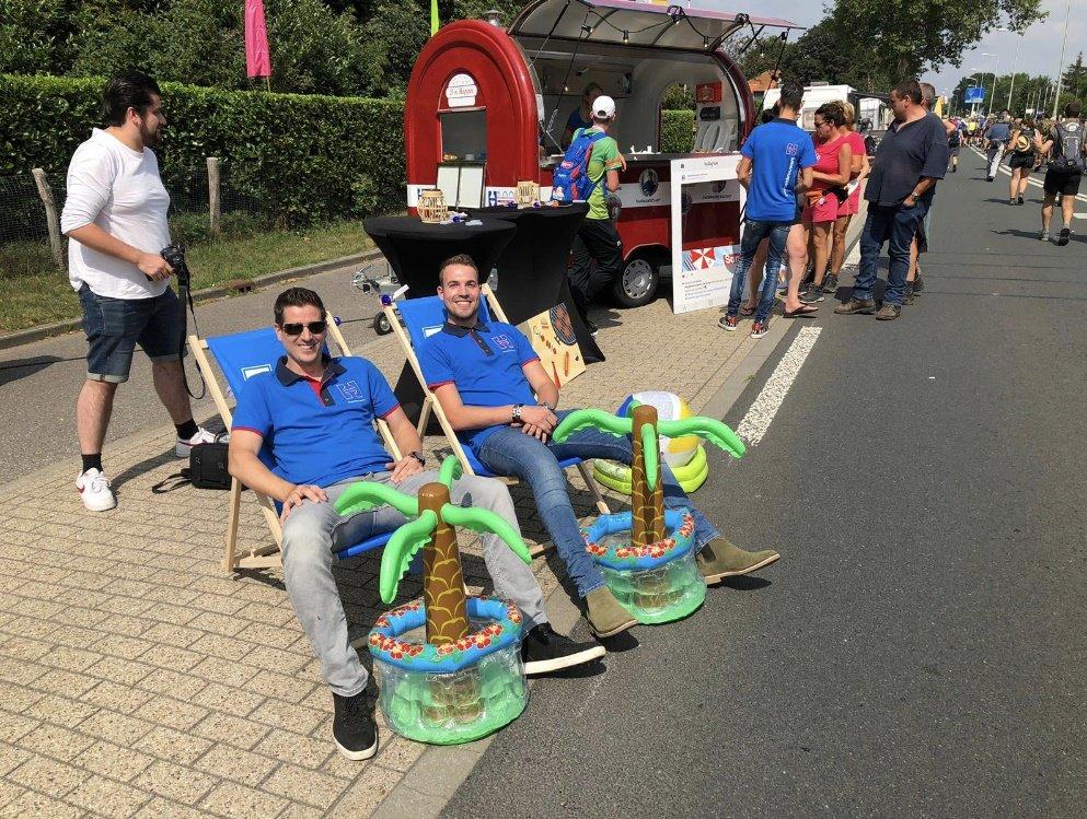 Hoppenbrouwers geeft wandelaars van Nijmeegse 4daagse een rustpunt!