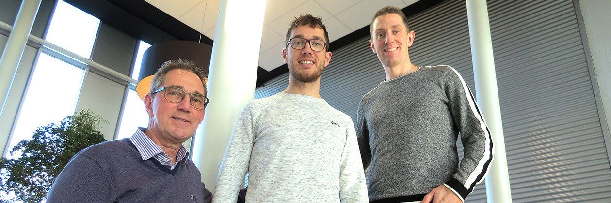 Ton, Niels en Geert van Kuijk