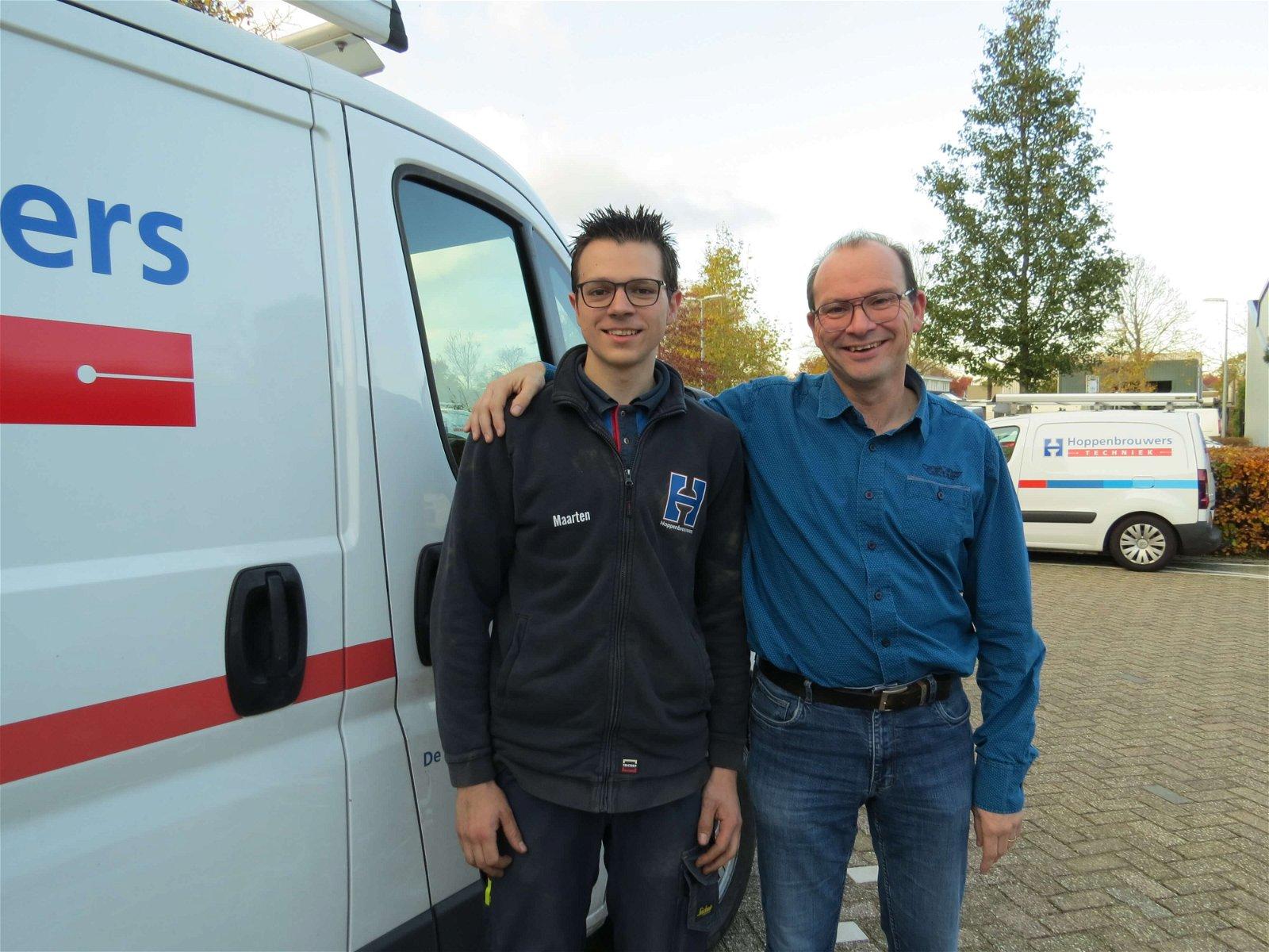 Maarten en Frank de Kok van Hoppenbrouwers Techniek