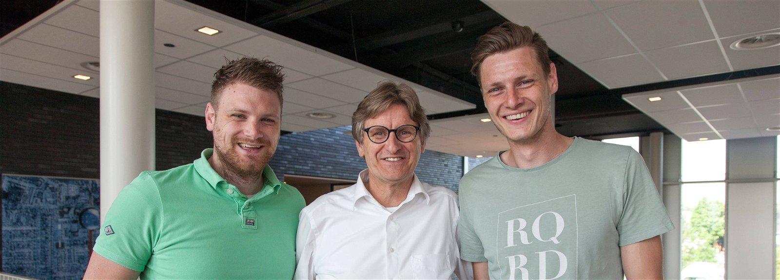 Ad, Chris en Johan van Esch