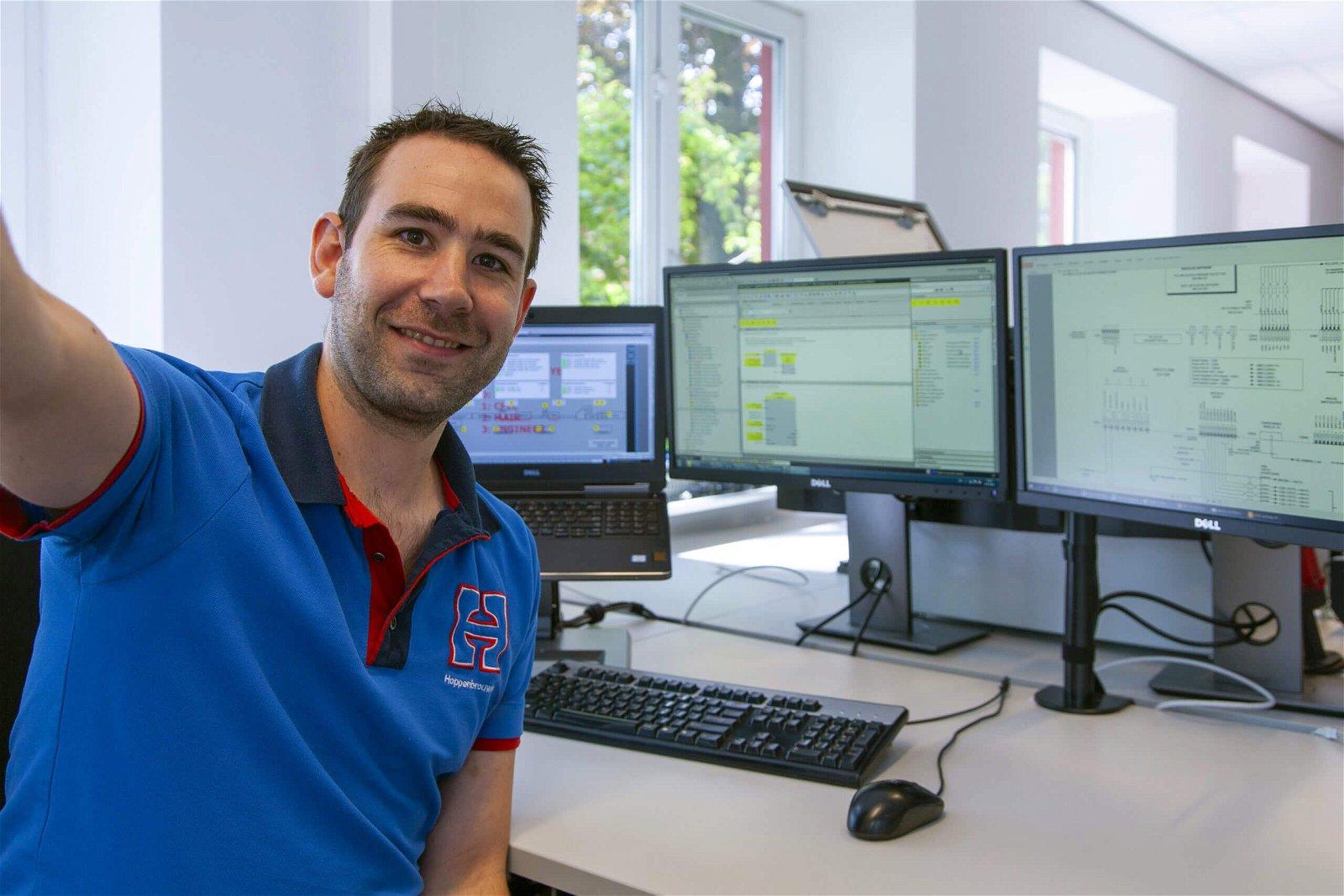 Service-engineer Rob Heijmans van Hoppenbrouwers Techniek