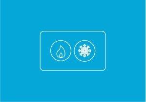 icoon warmte koude opslag