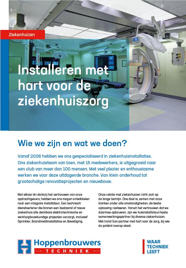 Folder Team ziekenhuizen van Hoppenbrouwers Techniek