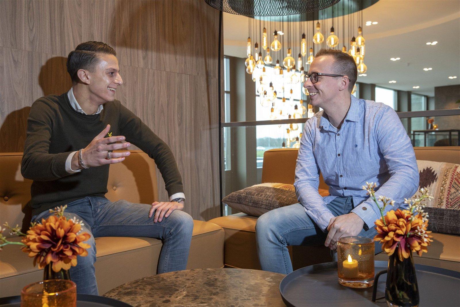 Geert Jacobs Clusterleider Technisch beheer en Colin Bink Vestigingsleider Best van Hoppenbrouwers Techniek