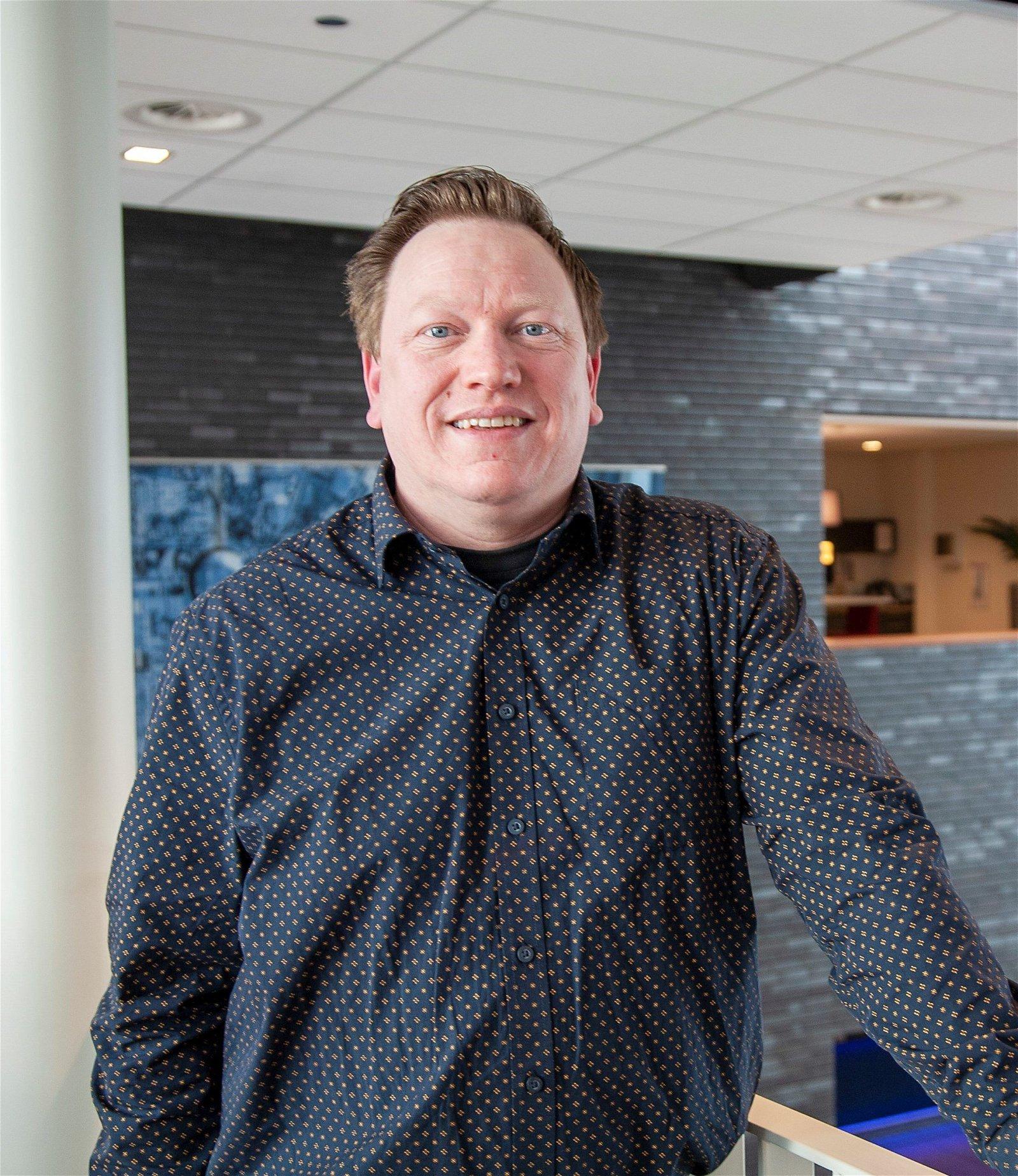 Projectleider Raymon Tilgenkamp bij Hoppenbrouwers Techniek